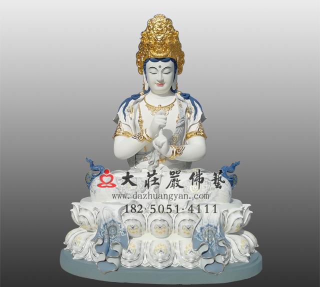 五方佛之毗卢遮那佛彩绘铜雕佛像
