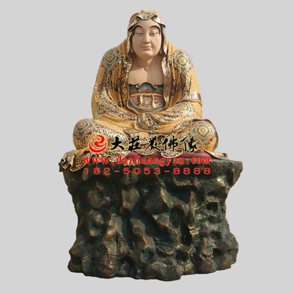 铜雕伐那婆斯尊者彩绘塑像