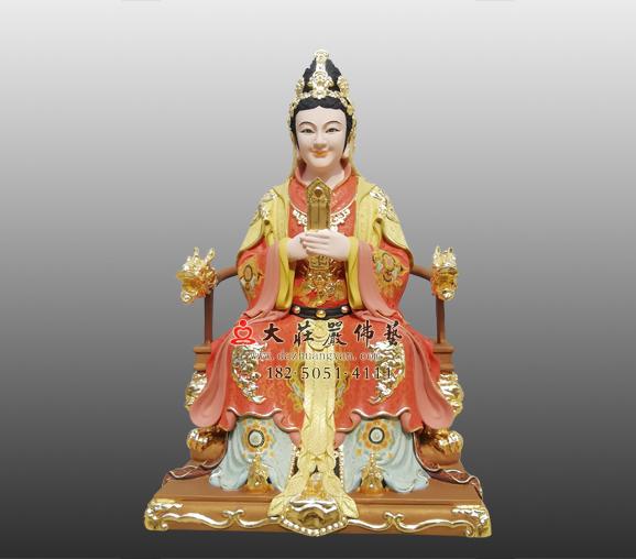铜雕顺天圣母彩绘神像