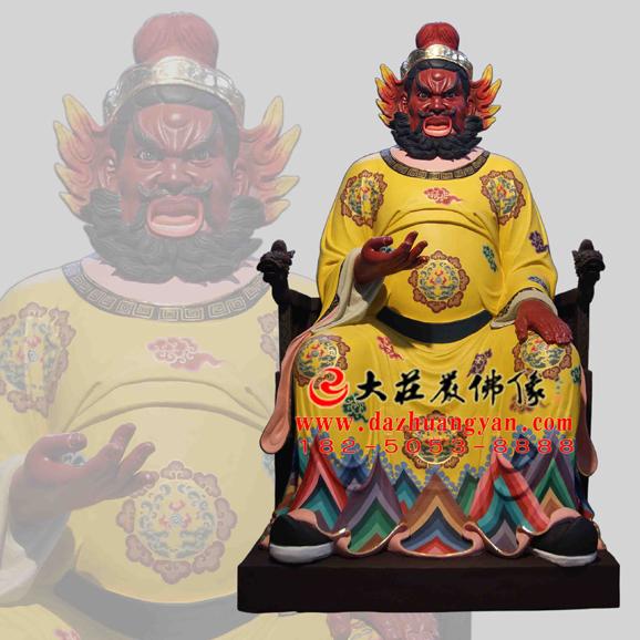 铜雕火神彩绘神像