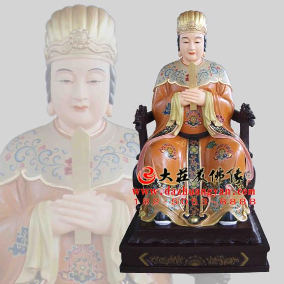 铜雕痘疹娘娘彩绘神像