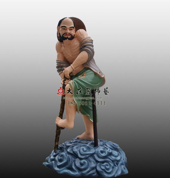 铜雕铁拐李彩绘神像