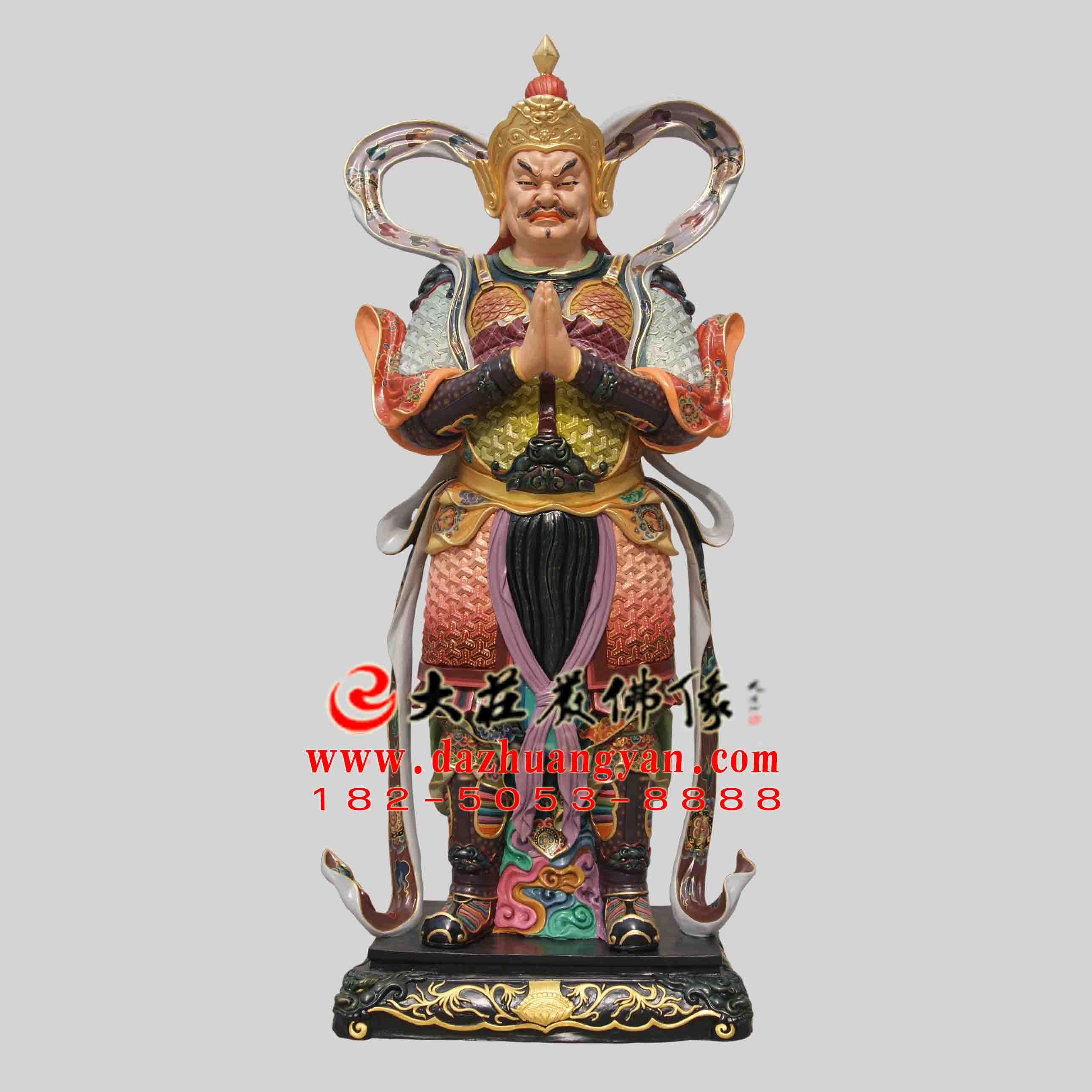 铜雕二十诸天之大梵天彩绘塑像